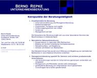 Bild Webseite Bernd Repke Unternehmensberatung Berlin