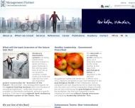 Bild Webseite Management Partner Stuttgart