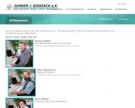 Bild Webseite Zunner Büromaschinen Nürnberg