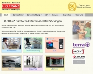 Bild Webseite H.O. Franz, Bürotechnik- Büromöbel, Inhaber Erwin Huber Bad Säckingen