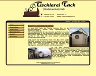 Bild Webseite Tack Berthold Tischlerei und Bestattungen Inden