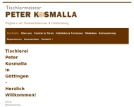 Website Tischlerei Peter Kosmalla - Meisterbetrieb