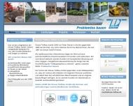 Bild Webseite Dreuw Peter Bauunternehmung Aachen