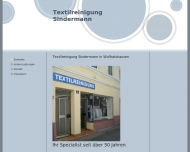 Website Textilreinigung Sindermann