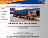 Bild Webseite G. Kolfenbach Spedition und Transporte Köln