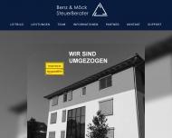 Bild Webseite Benz & Möck Steuerberater Reutlingen