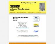 Bild Webseite Johann Wunder Gesellschaft München