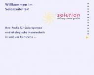 Bild SOLUTION Solarsysteme GmbH Vertrieb und Montage
