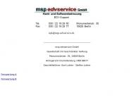 Bild Webseite msp-edv Service Berlin