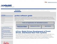 Bild Webseite PROTOS Logistik Software München