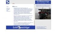 Website Schiffsbesichtiger Bremen u. Bremerhaven vereinigte Sachverständige