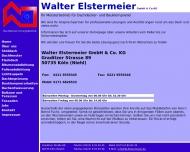 Bild Webseite Walter Elstermeier Köln