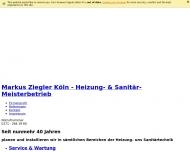 Bild Webseite Ziegler Markus Sanitärinstallationsmeister Köln