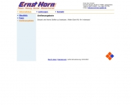 Website Ernst Horn