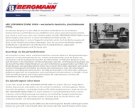 Website Abr. Bergmann Söhne