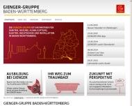 Bild Webseite Gienger Wilhelm Reutlingen