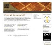 Bild Webseite Kummerhoff Peter W. Parkettlegermeister München