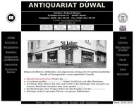 Bild Webseite Düwal Eckard Antiquariat Berlin