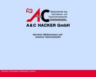Bild Webseite Hacker Dach - Ihr kompetenter Dachdecker in Nürnberg Nürnberg