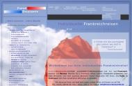 Bild Webseite France Decouverte Reiseveranstalter Köln
