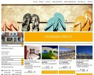 Bild Webseite Reisebüro Preetz, Lutz Sluyter Postfeld
