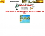 Website Reisebüro Sanwald