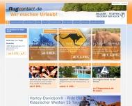Bild Webseite Flugcontact B + V Reisen Mannheim