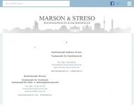 Bild Webseite Marson Oliver, Streso Dietmar und Witter Ralf Rechtsanwälte Berlin