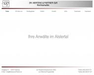 Bild Webseite Rechtsanwälte Mertens & Partner Hamburg