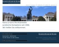 Bild Webseite Kanis & Kanis München