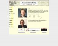 Bild Webseite Rechtsanwältin Marion Lehner-König Köln