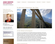Bild Webseite Rechtsanwältin Anke Winter Berlin