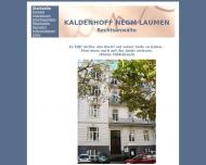 Bild Webseite Christian Kaldenhoff Köln