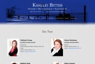 Website Kanzlei Bitter und Partner