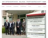 Bild Webseite Rechtsanwälte Spiekermann Dr. , Blang u. Kollegen Duisburg