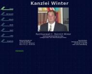 Bild Webseite Winter C. Heinrich Rechtsanwalt Reutlingen