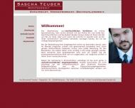Website Rechtsanwalt Sascha Teuber