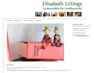 Website Urlings Elisabeth Rechtsanwältin