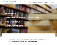 Bild Webseite Gäbler & Heuser Rechtsanwälte Kerpen