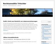 Bild Webseite Rechtsanwältin Thea Tritschler Freiburg im Breisgau