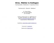 Bild Webseite Mähler Gisela Dr. Rechtsanwälte , Hans-Georg Dr. , Schmidtlein Harald, Dr. München