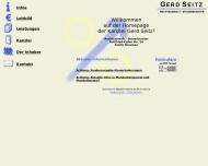 Bild Webseite Seitz Gerd München
