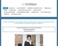 Bild Webseite Anwaltskanzlei Erika Schreiber Berlin