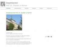 Bild Webseite Anwaltskanzlei Prof. Dr.  Queißer und Partner Dresden