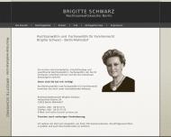Bild Webseite Rechtsanwältin Brigitte Schwarz Berlin