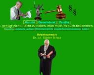 Bild Webseite Rechtsanwalt G. Scholz Dr.jur. Rechtsanwälte Halle