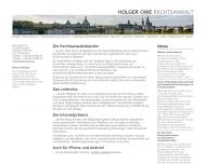 Bild Webseite Schumann Cornelia Rechtsanwältin Dresden