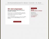 Bild Webseite Barten Ernst-Uwe Dr. , Schmidt Lore , Bode Angelika Dr. Rechtsanwälte Hannover