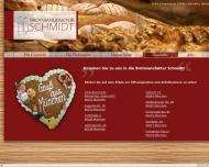 Website Bäckerei Schmidt, Inhaber Markus Schmidt Bäckereien
