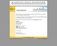 Website Kanzlei Schiffer Paul Fachanwalt für Arbeitsrecht